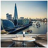 azutura London Skyline Fototapete Thames River Sonnenuntergang Tapete Büro Wohnkultur Erhältlich in 8 Größen XXX-Groß Digital
