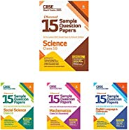 15 Sample Papers Combo For CBSE Class 10 Science, Social Science, Mathematics & English Language & Lit