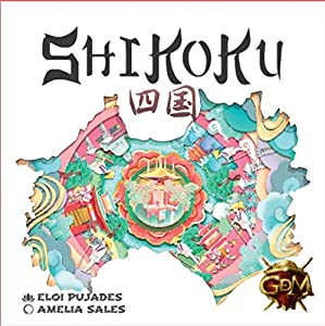 GM Games- Shikoku Juego de Cartas con Tablero, Color Blanco (GDM Games GDM128)