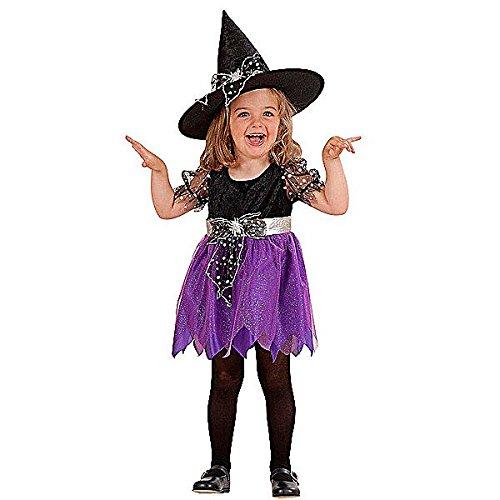 Widmann-WDM4923W Kostüm für Mädchen, Violett Schwarz, ()