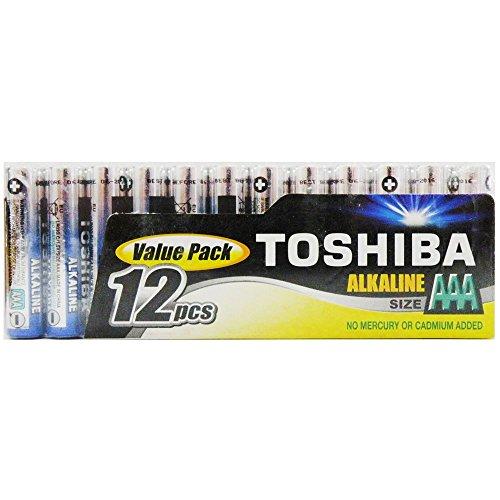 Piles et accus divers - Toshiba Piles Alcalines AAA LR03 (par 12) - 12 piles AAA (LR03)