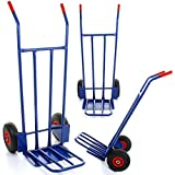 Marko Tools 600LB Sack Truck Heavy Duty Industrial Hand Trolley Warehouse Pneumatic Tyre