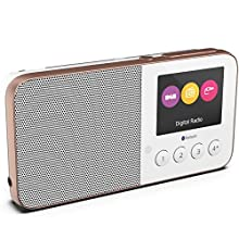 Pure UK Move T4 Pocket Rechargeable Personal DAD/DAB+/FM Radio with Bluetooth and Built-In Speaker, White