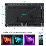 3.28ft*2+1.64ft*2 : TV backlight , Nexlux LED TV Lights USB Kit 5050 RGB Multicolor Back Lightings Strip with 44-key IR Remote Controller for 46inch~70inch HDTV PC Monitor Home Theater Decoration