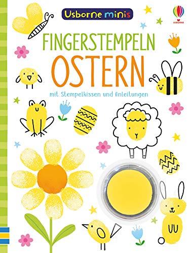 Usborne Minis: Fingerstempeln Ostern: mit Stempelkissen und Anleitungen