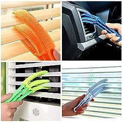 Outil de nettoyage à la maison Brosses de nettoyage-Fenêtre stores de cuisine aspirateur aveugle brosse approprié pour climatiseur outil (Multicolore)