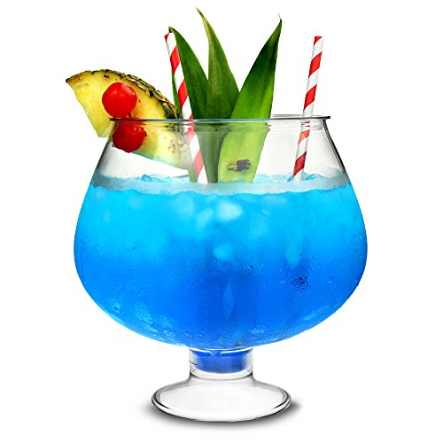 Kunststoff-Beiner Cocktail Fish Bowl 80oz/2,5 Liter – Neuheit Party Cocktail teilhaber