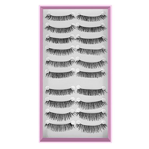 Daedalus® 10paia nero lungo a false Eye Lashes ciglia spesse matrimonio, party makeup