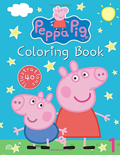 Peppa Pig Coloring Book: Great Coloring Book for Kids Ages 3-8, 40 Illustrations (Books Coloring Frozen)