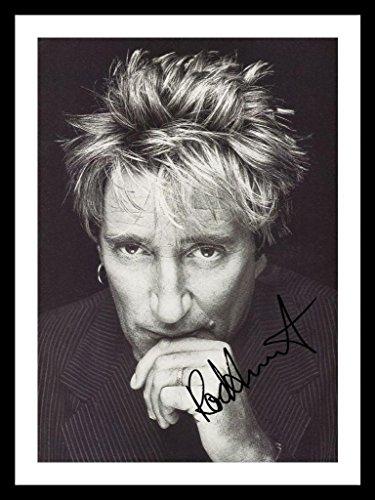 Rod Stewart Signiert und gerahmt Foto (Stewart-foto Rod)