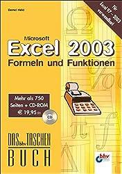 Microsoft Excel 2003 Formeln & Funktionen (bhv Taschenbuch)