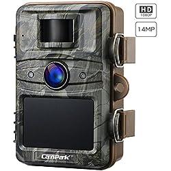 Campark 【2019 Nouvelle Version】 Caméra de Chasse 14MP 1080P Caméra de Surveillance Étanche IP66 avec 44Pcs 940nm IR LEDs Vision Nocturne Infrarouge Jusqu'à 65 pieds/20m