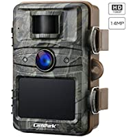Campark Cámara de Caza 14MP 1080P HD Trail Cámara con 44pcs IR LED Invisible Visión Nocturna Distancia de disparo hasta 20M IP66 Impermeable Cámara de Animal Salvaje con 2.4 \'\' LCD
