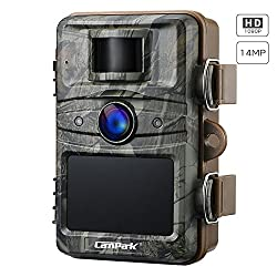 "Campark Trail Camera 14MP 1080P Wildlife Camera Night Vision Motion Activated up to 20M with 2.4"" LCD 44 Pcs Invisible IR LEDs IP66 Waterproof Design for Wildlife Hunting and Home Security"