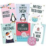Baby-Karten mit hochwertiger Verpackung von Cozy Racoon - für Junge und Mädchen - Geschenk zur Geburt, Babyparty, Schwangerschaft