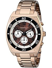 Caravelle New York  Sport Analog Brown Dial Men's Watch - 45A110