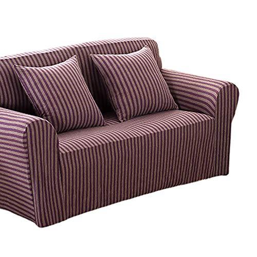 Boqingzhu Sofabezug 3 Sitzer Lila-Stretch Elastisch Antirutsch-Sofaüberwurf Couchbezug Sofahusse Sofaabdeckung-190-230 cm