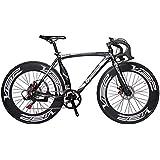 Cyrusher Machete Negro de aluminio del marco 54cm 700C 70MM de los hombres de la bici del camino Velocidades Frenos de disco mecánicos camino de la bicicleta