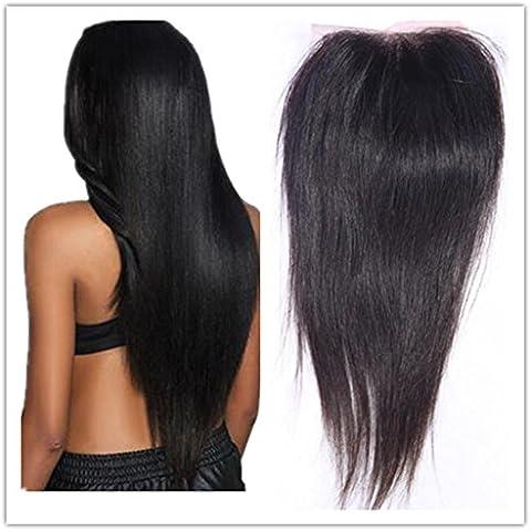 XQXHair Non trasformati 100% umano capelli completo pizzo frontale chiusura setosa dritto 13 x 4