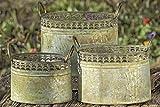 3 Blumentopf Blumenkübel Pflanztopf Blumenschale Übertopf Pflanzschale oval Zink