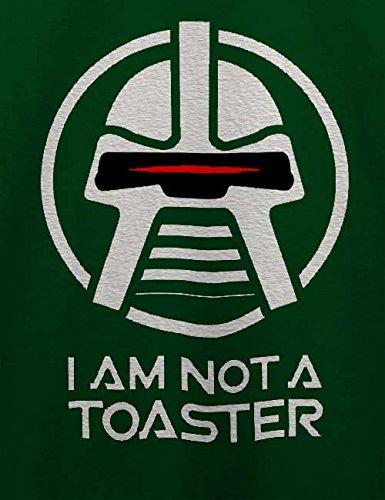 Cylon I Am Not A Toaster T-Shirt Dunkel Grün