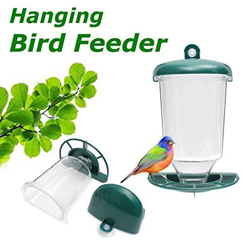 Richi automático de ventana de aves silvestres para semillas alimentación colgante ventosa...