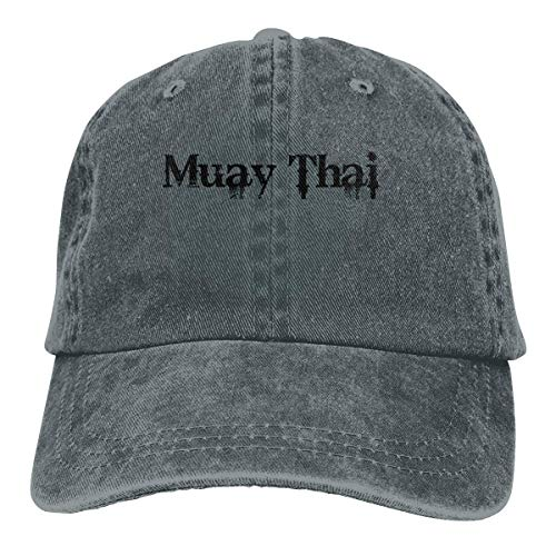 Presock Muay Thai Cowboy Cap Unisex Adjustable Snapback Baseball Hats Deep Heather - Heather Rim