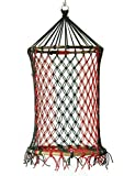 #10: Novicz Cotton Swinging Chair (Red and Green)