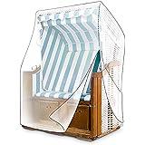 Relaxdays de las señoras mimbre silla de playa, color verde
