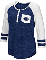 """Penn State Nittany Lions NCAA Women's """"Inconceivable"""" 3/4 Sleeve Henley Shirt Chemise"""