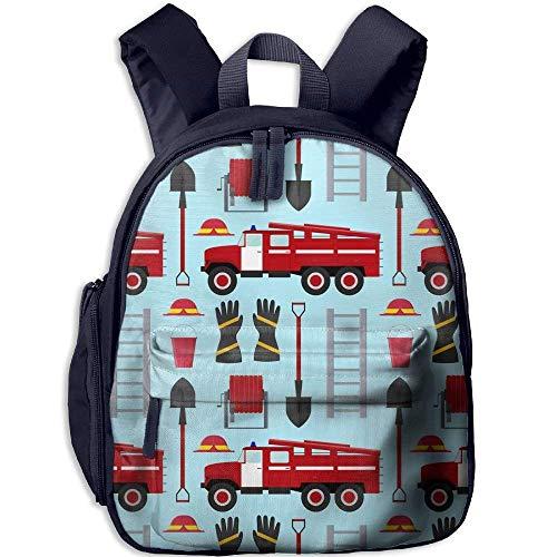 Kindergarten Rucksack Feuerwehrmann Beruf Ausrüstung und Werkzeuge Kinder Schultasche