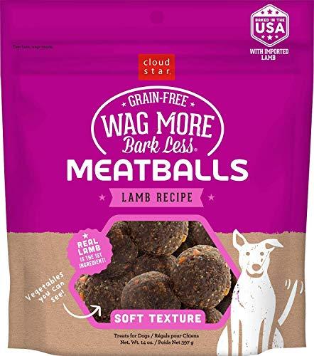 Cloud Star Wag More Bark Less Lamb Recipe Meatballs Dog Treats 14 Ounce -