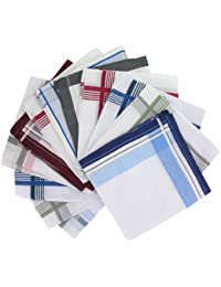Pack of 12 Men's Patterned Handkerchiefs (HH125) Handkerchiefs by Handkerchief Heaven