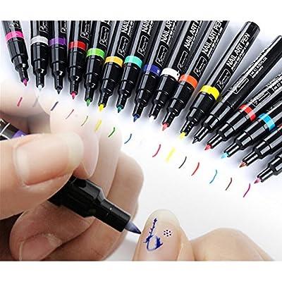 1PCS 16 Color Nail Art Pen Painting Design Tool Drawing for UV Gel Polish Manicure