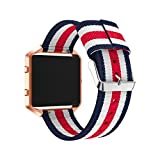 For Fitbit Blaze Replacement Band,Sansee Fine Woven Nylon Adjustable Replacement Band Sport Strap Unisex Fitness Wristband+Case Cover For Fitbit Blaze Watch (Colour B)