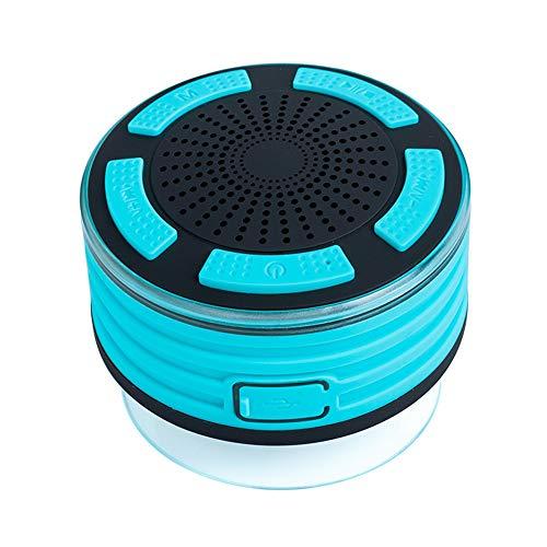 WYGC Speakers Bluetooth Lautsprecher MP3-Player Dusche IPX7 Wireless Stereo LED Stimmungslichter Sound Box mit Saugnapf Unterstützung Anruffunktion FM für Kinder Geschenke (Farbe : Green) -