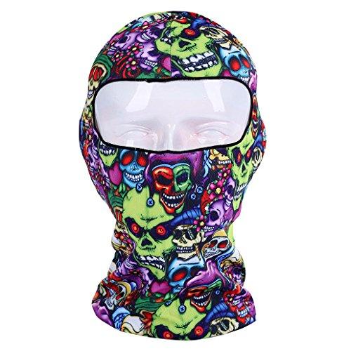 Vovotrade Delgada 3D Ciclismo al Aire Libre esquí pasamontañas Cuello Capucha mascarilla Completa Sombrero de la máscara de la Cara Animal (B)