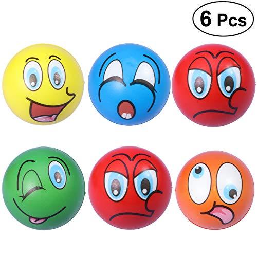 moticon Balls Wütend Smiley PU Schaum Bälle Spielzeug 63mm (Zufallsmuster) ()