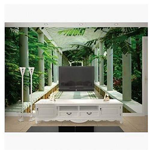 Tapete Wandbild 3D Stereoskopische Szenische Promenade Wandbilder Tv Hintergrund Wohnzimmer Schlafzimmer Wandbild, 400 * 280Cm