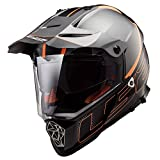 LS2 Helm Motorrad MX436 Pioneer Element, matt black Titanium, M