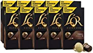 L'OR Espresso Coffee Forza Intensity 9 - Nespresso®* Compatible Aluminium Coffee Capsules - 8 packs + 2 pa