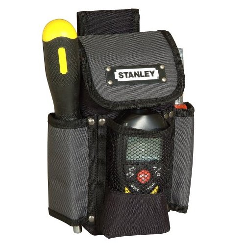 Stanley Gürteltasche / Werkzeugtasche Maße (16x24x11cm, Gürtel aus doppellagigem Denier Nylon für Werkzeuge und Zubehör, stabil, großes Hauptfach, Mobiltelefontasche) 1-93-329