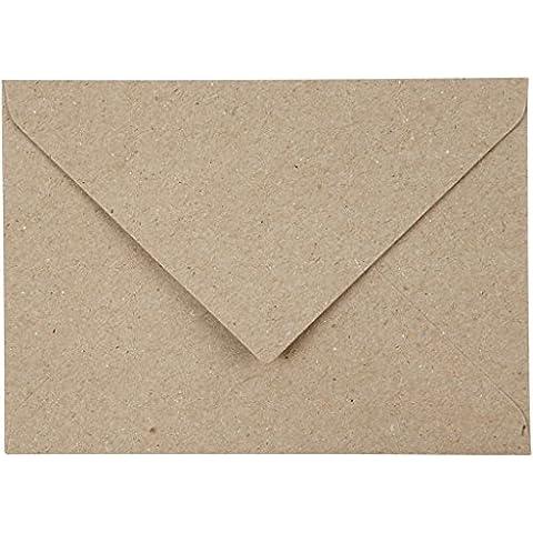 Sobres de papel reciclado, C6 11,5x16 cm, 120 gr, natural, 50ud