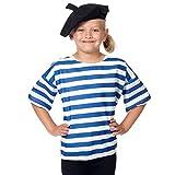 Charlie Crow Beret Francese e camicia costume per i bambini. Taglia unica 3-9 anni.