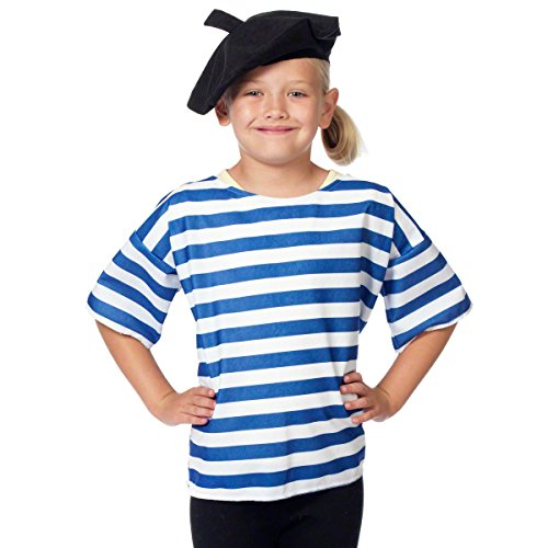 Französisch Kostüm für Kinder. 3-9 (Kinder Frankreich Für Kostüm)