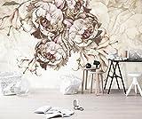 Yosot Benutzerdefiniertes Hintergrundbild Für Moderne Europäische Hand Gemalte Rose Blume Blumen Vintage Wandbilder Tv-Couch Hintergrund Wall 3D Tapete-140Cmx100Cm