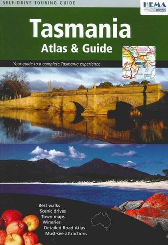 Tasmania Atlas & Guide: Best walks - Scenic drives - Town maps - Wineries - Detailed Road Atlas - Must-see attractions (Map-tasmanien)