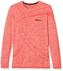 Craft Kinder Active Comfort Rn Ls Jr Baselayer, Poppy, 146152