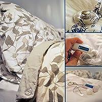 Pinion Pins épingles à pignon, Un Système de brochage magnétique (Jeu DE 8) Fixation pour Les Housse de couettes, pour Attacher Les Décorations, Les Vêtements et Beaucoup Plus! (8, Clair)