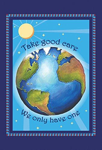 Toland Home Garden Protect Earth Garden Flag - Sfera Giardino Bandiera